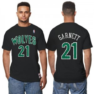 """Minnesota Timberwolves Kevin Garnett Hardwood Classics Distressed Name"" All items"
