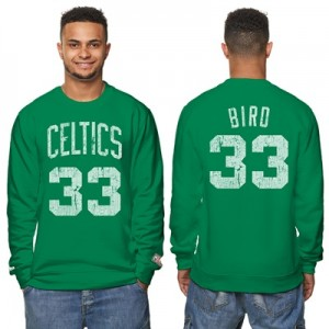 """Boston Celtics Larry Bird Hardwood Classics Distressed Name & Number P"" All items"