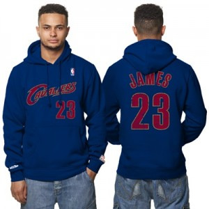 """Cleveland Cavaliers LeBron James Hardwood Classics Distressed Name & N"" All items"