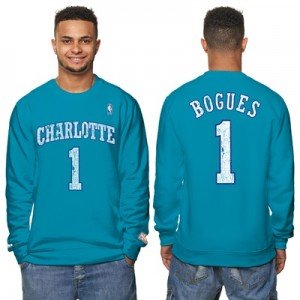 """""""Charlotte Hornets Muggsy Bogues Hardwood Classics Distressed Name & Nu"""" All items"""