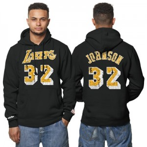 """Los Angeles Lakers Magic Johnson Hardwood Classics Distressed Name & N"" All items"