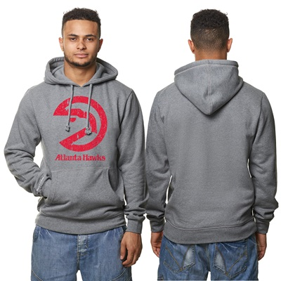 """Atlanta Hawks Hardwood Classics Distressed Print Hoodie – Grey Heather"" All items"