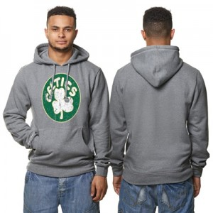 """Boston Celtics Hardwood Classics Distressed Print Hoodie – Grey Heathe"" All items"