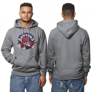 """Toronto Raptors Hardwood Classics Distressed Print Hoodie – Grey Heath"" Hoodies"