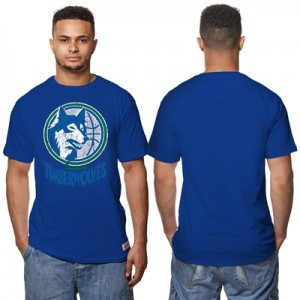 """Minnesota Timberwolves Hardwood Classics Distressed Print T-Shirt – Ro"" Hoodies"