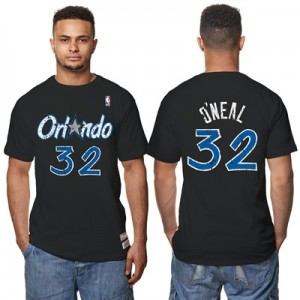 """Orlando Magic Shaquille ONeal Hardwood Classics Distressed Name & Numb"" Hoodies"