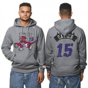 """Toronto Raptors Vince Carter Hardwood Classics Distressed Name & Numbe"" Hoodies"