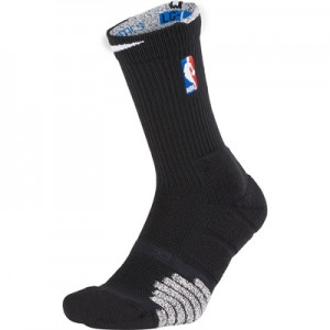 """NBA Nikegrip Quick On-Court Crew Sock – Black/White – Mens"" All items"