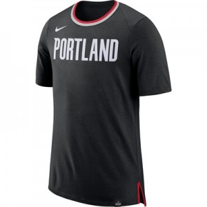 """Portland Trail Blazers Nike Fan Short Sleeve Top – Black – Mens"" All items"