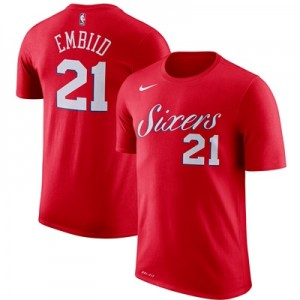 """Philadelphia 76ers Nike Joel Embiid Name & Number T-Shirt – University"" All items"