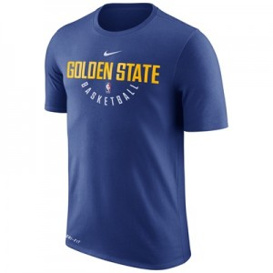 """Golden State Warriors Nike Practise Short Sleeve T-Shirt – Rush Blue -"" All items"