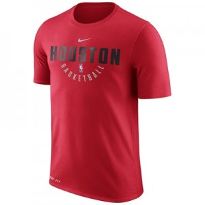 """Houston Rockets Nike Practise Short Sleeve T-Shirt – University Red – "" All items"