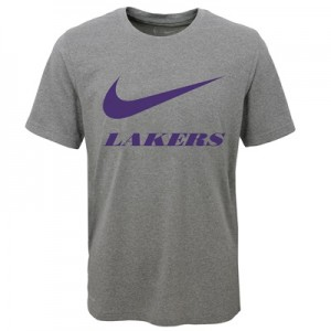 """""""Los Angeles Lakers Nike Swoosh T-Shirt – Dark Grey Heather – Youth"""" All items"""