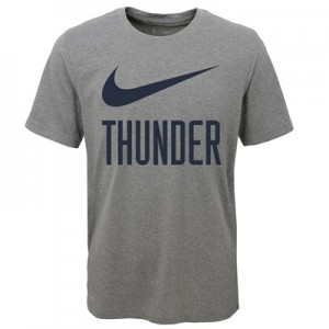 """Oklahoma City Thunder Nike Swoosh T-Shirt – Dark Grey Heather – Youth"" All items"