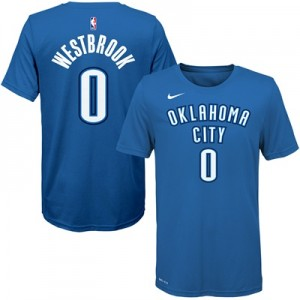 """Oklahoma City Thunder Nike Russell Westbrook Icon Name & Number T-Shir"" All items"