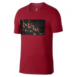 """Jordan Flight Photo T-Shirt – Gym Red – Mens"" All items"