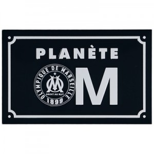 Olympique de Marseille Planete Metal Sign – 19 x 12cm All items