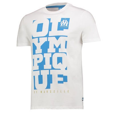Olympique de Marseille Graphic T-Shirt – White – Mens Clothing