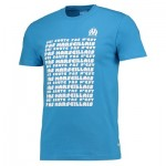 Olympique de Marseille Text T-Shirt – Blue – Mens Clothing