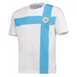 Olympique de Marseille Polyester Cross T-Shirt – White – Mens Clothing