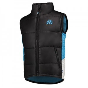 Olympique de Marseille Padded Gilet – Black – Mens Clothing