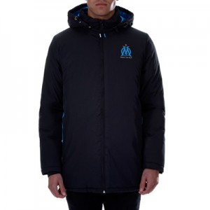 Olympique de Marseille Parka – Black – Mens Clothing