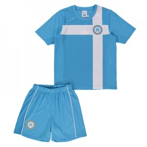 Olympique de Marseille Polyester Mini Kit – Blue – Boys Clothing