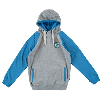 Olympique de Marseille Hoodie – Grey/Blue – Boys Clothing