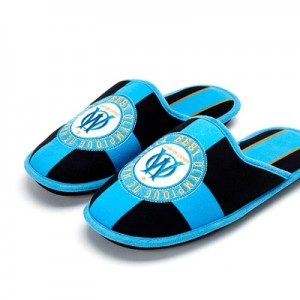 Olympique de Marseille Collegiate Slippers – Black – Kids Clothing