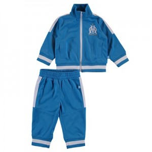 Olympique de Marseille Polyester Tracksuit – Blue – Baby Clothing
