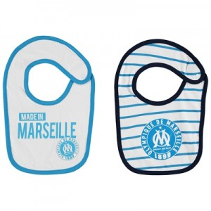 Olympique de Marseille 2PK Bibs – White/Blue – Baby Clothing