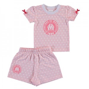 Olympique de Marseille Spotty T-shirt and Short Set – Pink – Baby Girl Clothing