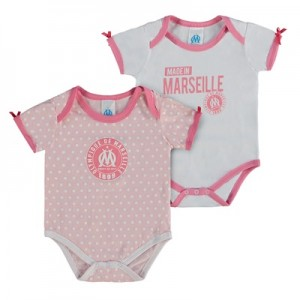 Olympique de Marseille Spotty 2PK Bodysuits – Pink/White – Baby Girls Clothing