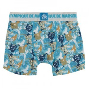 Olympique de Marseille Graffiti Boxer Shorts – Blue – Boys Clothing