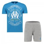Olympique de Marseille Short Pyjamas – Blue/Grey – Mens Clothing