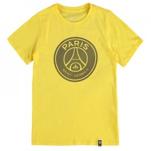 Paris Saint-Germain Crest T-Shirt – Yellow – Kids All items
