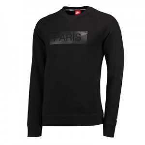 Paris Saint-Germain Authentic Crew Neck Sweater – Black All items