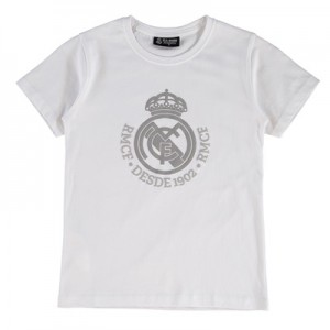 Real Madrid Tonal Crest T-Shirt – White – Junior All items