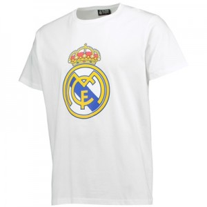 Real Madrid Crest T-Shirt – White – Mens All items
