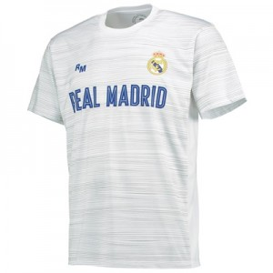 Real Madrid Polyester Training T-Shirt – White – Mens All items