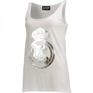 Real Madrid Metallic Crest Vest – White – Womens All items