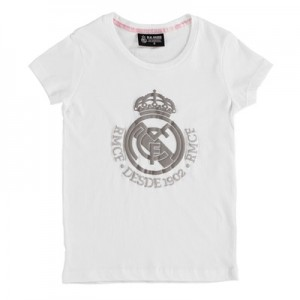 Real Madrid Tonal Crest T-Shirt – White – Girls All items