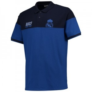 Real Madrid Panelled Polo Shirt – Blue – Mens All items