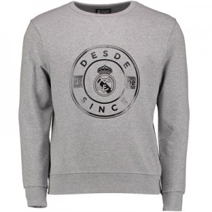 Real Madrid Established Crew Neck Sweater – Grey Marl – Mens All items