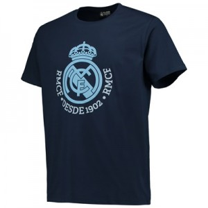 Real Madrid Tonal Crest T-Shirt – Navy – Junior All items