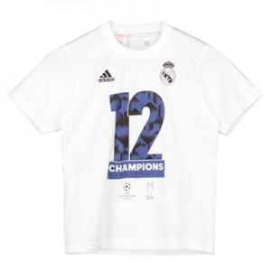Real Madrid UEFA Champions League Winners 2017 T-Shirt – White – Kids All items
