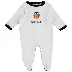 Valencia CF Crest Sleepsuit – White – Baby All items