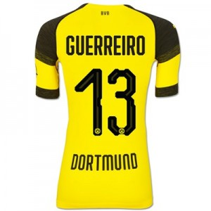 BVB Authentic evoKNIT Home Shirt 2018-19 with Guerreiro 13 printing All items