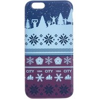 Manchester City Fan Fairisle Christmas iPhone 6-6S Phone Case