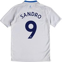 Everton Away Shirt 2017/18 - Junior with Sandro 9 printing